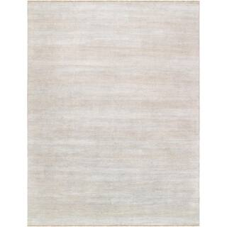 """Pasargad Transitiona Collection Silver Bsilk & wool Area Rug (11'10"""" X 15' 9"""") https://ak1.ostkcdn.com/images/products/17431975/P23666174.jpg?impolicy=medium"""