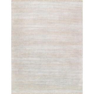 "Pasargad Transitiona Collection Silver Bsilk & wool Area Rug (11'10"" X 15' 9"")"