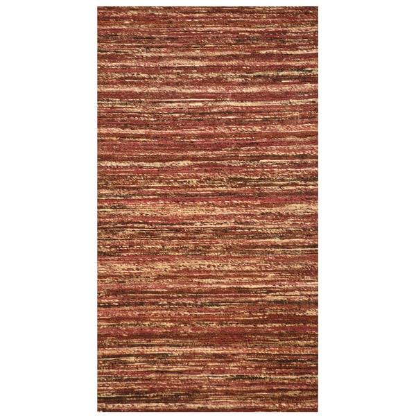 "Handmade Chenille Flatweave Rug (India) - 2' x 3'8"""
