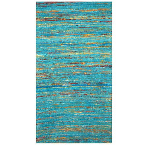 Herat Oriental Indo Hand-tufted Chenille Flatweave Contemporary Rug (2' x 3'8) - 2' x 3'8