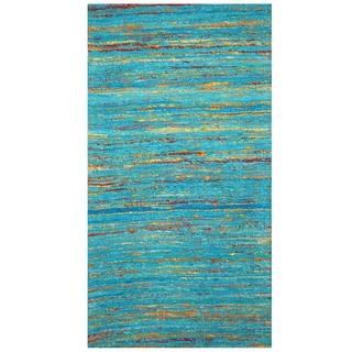 Handmade Chenille Flatweave Rug (India) - 2' x 3'8