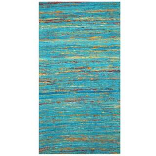 Herat Oriental Indo Hand-tufted Chenille Flatweave Contemporary Rug (2' x 3'8) - 2' x 3'8