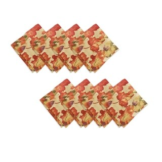 Harvest Fest Set of 8 Print Fabric Napkins (Option: Multi)