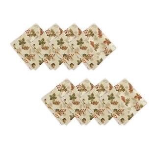 Swaying Leaves Harvest Set of 8 Print Fabric Napkins
