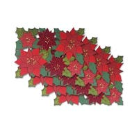 Christmas Allover Cutwork Polyester Set of 4 Placemats