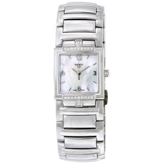 Tissot Women's T0513106111700 'T-Evocation' Diamond Stainless Steel Watch - Mother of Pearl