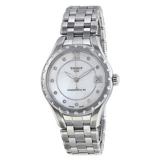 Tissot Women's T0722071111600 'T-Lady Powermatic 80' Diamond Automatic Stainless Steel Watch - Mother of Pearl|https://ak1.ostkcdn.com/images/products/17432004/P23666195.jpg?impolicy=medium