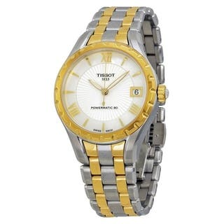 Tissot Women's T0722072211800 'T-Lady Powermatic 80' Automatic Two-Tone Stainless Steel Watch - Mother of Pearl|https://ak1.ostkcdn.com/images/products/17432005/P23666196.jpg?impolicy=medium