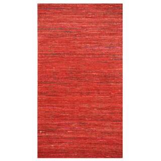 Herat Oriental Indo Hand-tufted Chenille Flatweave Contemporary Rug (2' x 3'8)