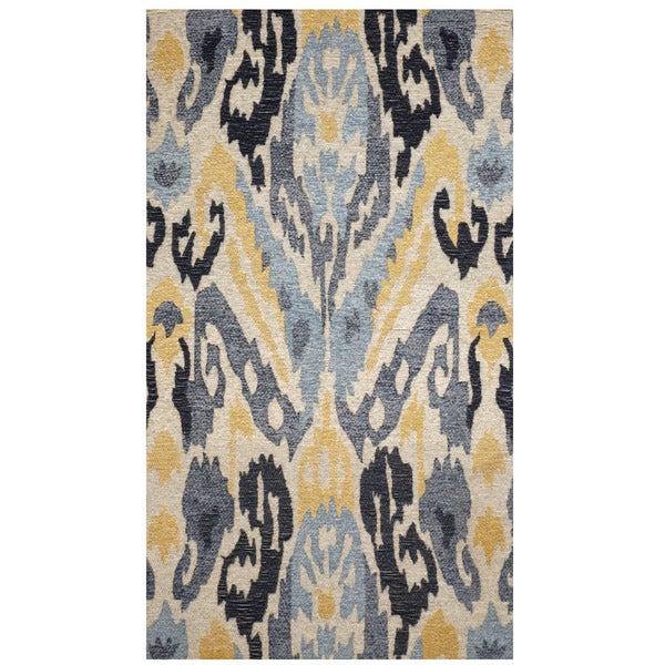 "Handmade Chenille Flatweave Ikat Rug (India) - 2'4"" x 4'"