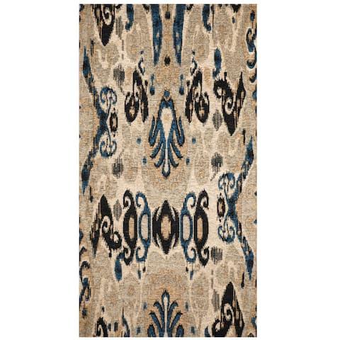 "Handmade Chenille Flatweave Ikat Rug (India) - 2'8"" x 4'6"""