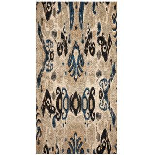 Herat Oriental Indo Hand-tufted Chenille Flatweave Ikat Rug (2'4 x 4')