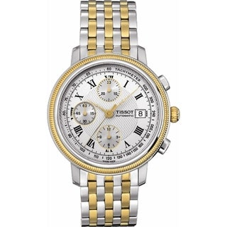 Tissot Men's T0454272203300 'T-Classic Bridgeport' Chronograph Automatic Two-Tone Stainless Steel Watch - Silver
