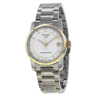 Tissot Men's T0872075511700 'T-Classic Powermatic 80' Automatic Two-Tone Stainless Steel Watch - Silver