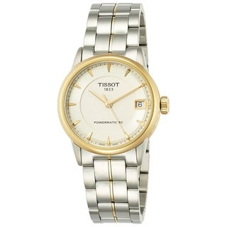 Tissot Women's 'T-Classic Powermatic 80' Two-Tone Stainless Steel Watch - Silver
