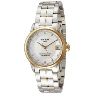 Tissot Women's 'T-Classic Powermatic 80' Diamond Two-Tone Stainless Steel Watch - Silver