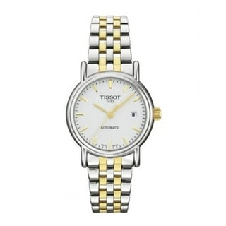 Tissot Women's T95218331 'T-Classic Carson' Automatic Two-Tone Stainless Steel Watch - Silver