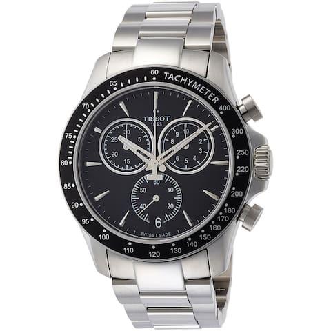 Tissot Men's T1064171105100 'T-Sport V8' Chronograph Stainless Steel Watch - black