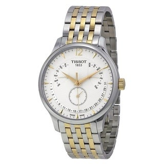 Tissot Men's T0636372203700 'T-Classic Tradition' Perpetual Calendar Two-Tone Stainless Steel Watch - Silver