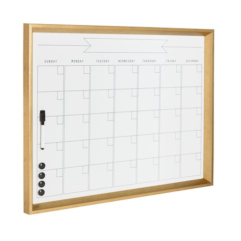 DesignOvation Calter Framed Magnetic Dry Erase Monthly Calendar
