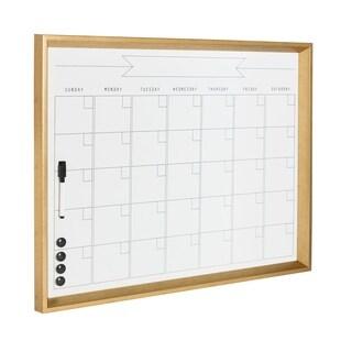 DesignOvation Calder Framed Magnetic Dry Erase Monthly Calendar