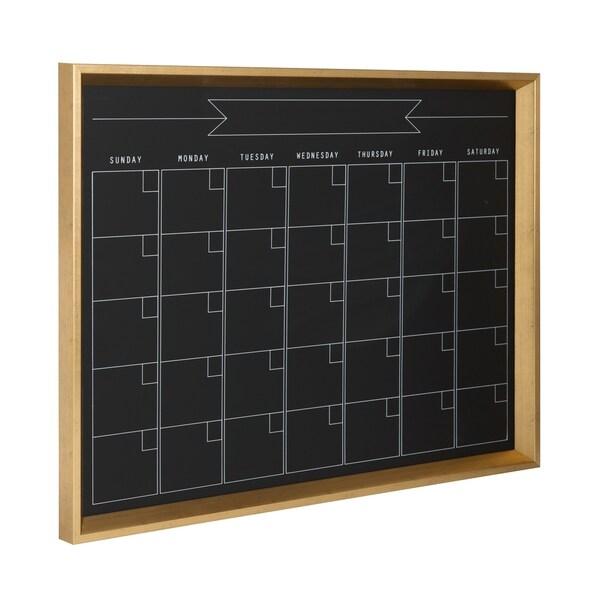 DesignOvation Calder Framed Magnetic Chalkboard Monthly Calendar