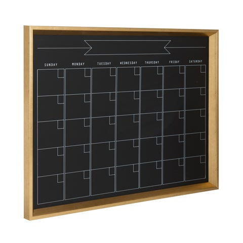 DesignOvation Calter Framed Magnetic Chalkboard Monthly Calendar