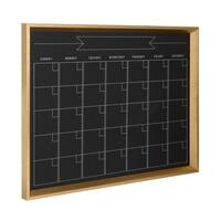 DesignOvation Calder Framed Magnetic Chalkboard Monthly Calendar