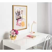 DesignOvation Calter Framed Linen Fabric Pinboard
