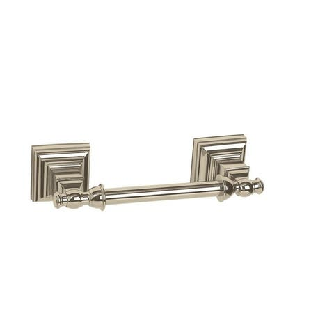Markham Pivoting Double Post Tissue Roll Holder in Polished Nickel