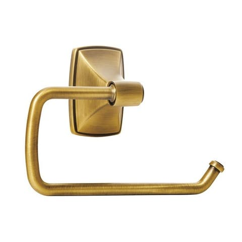 Clarendon Single Post Tissue Roll Holder in Gilded Bronze