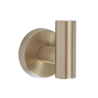 Arrondi Single Robe Hook in Brushed Bronze/Golden Champagne