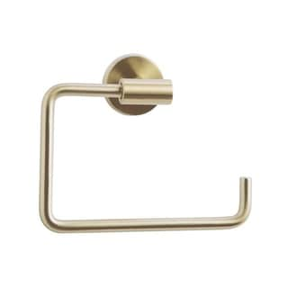 Arrondi 6-7/16 in (164 mm) Length Towel Ring in Brushed Bronze/Golden Champagne