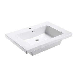 "Eclipse 31"" W x 22"" L Virtuous China Vanity Top in White"