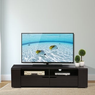 Furinno FVR Entertainment Center with 2 Drawers, Wenge FVR7278WG