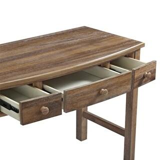Dorel Living Lara Natural Wood 3-drawer Desk
