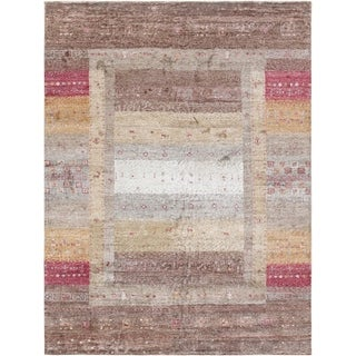 """Pasargad Gabbeh Collection Hand-Knotted Bamboo Silk Area Rug (5' 9"""" X 7' 8"""")"""