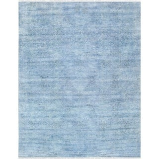 """Transitiona Collection M.Blue/Green Bsilk & Wool Area Rug (8' 1"""" X 10' 6"""")"""