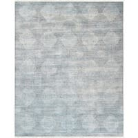 "Transitiona Collection Hand-Knotted Bsilk & Wool Rug (7'11"" X 10' 0"")"