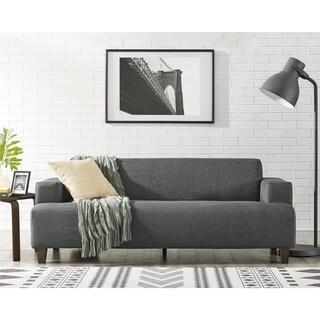 Novogratz Benji Cozy Grey Couch