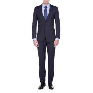 Gino Vitale Men's Slim Fit Plaid Check 2 Piece Suit