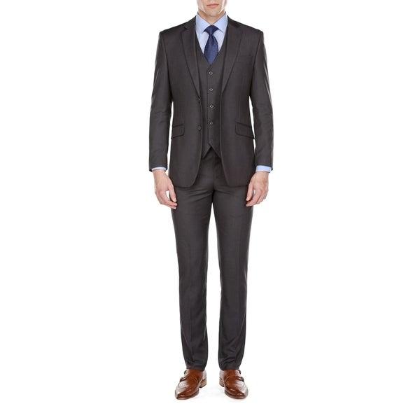 Fino Uomo Mens Slim Fit 3 Piece Suits