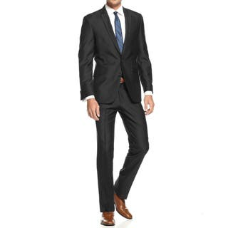 Braveman Men's Slim Fit 2 Piece Suit|https://ak1.ostkcdn.com/images/products/17432307/P23666431.jpg?impolicy=medium