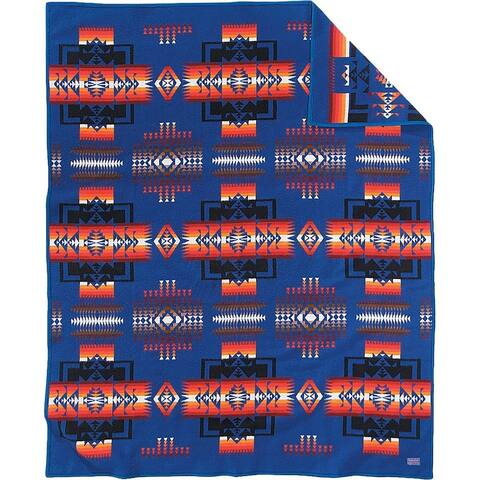 Pendleton Chief Joseph Sapphire Throw Blanket
