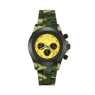 ToyWatch Velvety Chrono Camouflage and Yellow VVCMA08HGYL