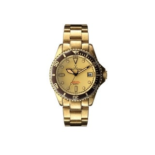 ToyWatch Vintage Brushed Gold and Steel Strap VI03GD