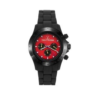 ToyWatch Velvety Chrono Black and Red VVCM09BKRD
