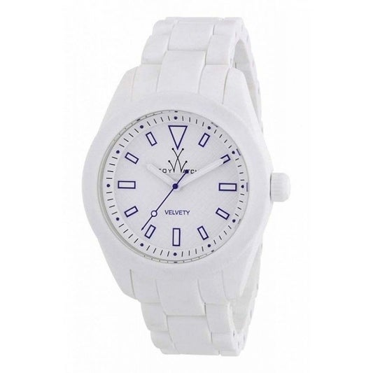 Toywatch Velvety White and Blue VV02WH, Men's (Silicone)