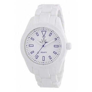 ToyWatch Velvety White and Blue VV02WH