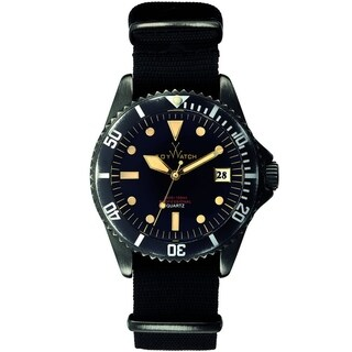ToyWatch Vintage 3 Hands Black - Canvas STRAP VI01BK